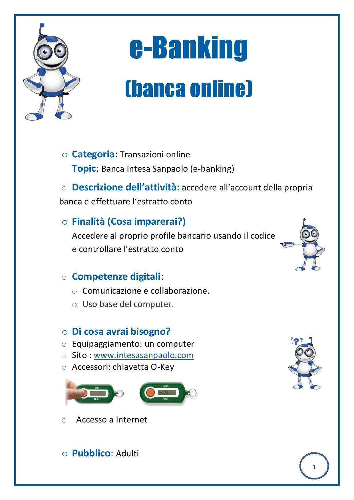 Course Banca Intesa Sanpaolo E Banking