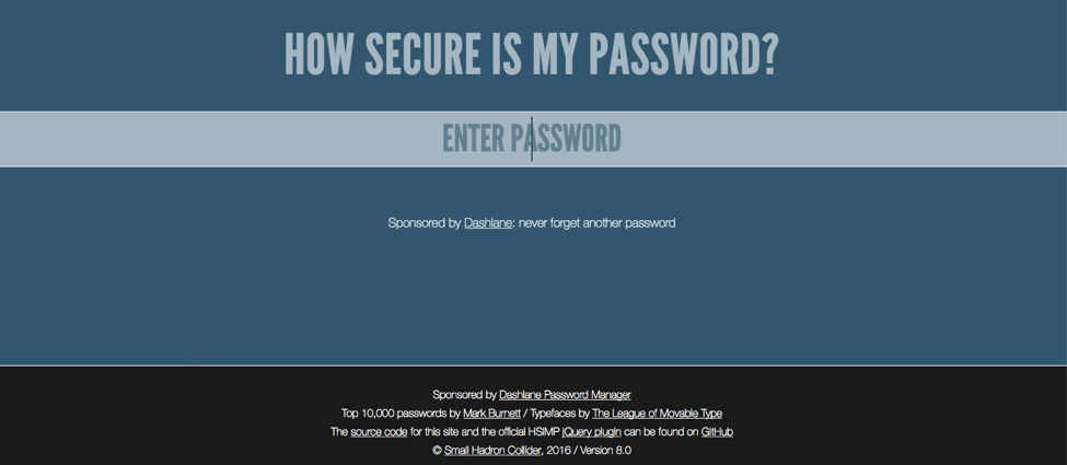 Course: How secure is my password?